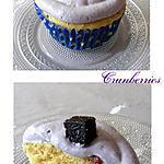 recette Cupcakes aux cranberries & bleuets (myrtilles)