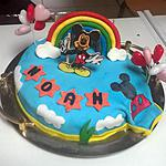 recette gâteau mickey aux fruits