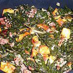 recette Fricassée de blette,pomme de terre et chair à saucisse de Maman