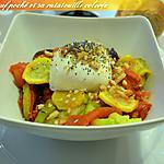 recette Craquant œuf poché et sa ratatouille colorée