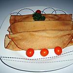 recette Crêpes jambon/champignons/gruyère