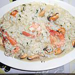 recette RISOTTO IN BIANCO MOULES GAMBAS VONGOLE