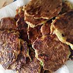 recette Mini-crêpes de courgettes, jambon fumé et comté