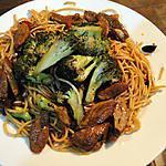 recette Nouilles au canard et au broccoli