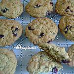 recette ~Biscuits à l'avoine et aux canneberges~