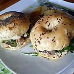 recette Bagels poulet champignons