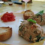 recette Rillettes de saumon et thon au basilic frais