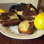 recette Cake marbré au chocolat et au citron