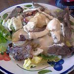 recette Salade composé poêlé de légumes boeuf