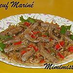 recette Boeuf mariné