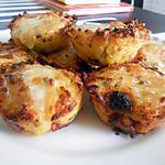 recette Muffins de purée de pommes de terre au chorizo et au fromage