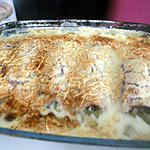 recette Gratin d'haricots vert au jambon a la béchamel
