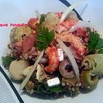 recette Salade composée au thon, écrevisses et Quinoa
