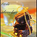 recette brownies aux trois chocolats