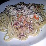 recette Spaghettis sauce boursin