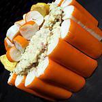 recette Charlotte de la mer (surimi-crevettes-avocat et boursin)