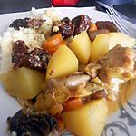 recette Tajine de poulet au pruneaux a la cocotte
