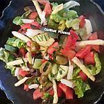 recette Salade concombre-olives-pastèque-asperges, sauce moutarde & miel