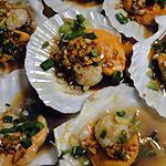 recette Coquilles St.-Jacques à la vapeur à la chinoise