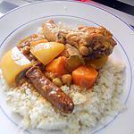 recette Couscous au petits légumes a la cocotte