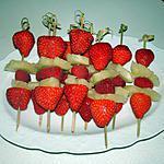 recette brochettes de fruits