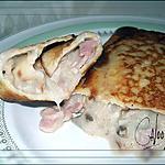 recette Crêpes fourrées (jambon, champignons, poulet et olives)