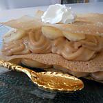 recette Milles feuilles de brick crème de spéculoos bananes