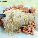 recette Konjac au saumon