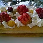 recette mille -feuille chantilly/framboise fraise