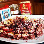 recette Poulpe aux 3 paprikas