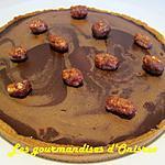 recette Tarte, compotée d'abricot au romarin, ganache marbrée au chocolat au lait sans crème