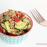 recette Salade quinoa, végé-pâté et légumes d'été