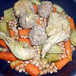 recette RAGOUT MIXTE DE VIANDES AUX PETITS LEGUMES (genre couscous)