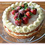 recette Layer cake aux fraises et chocolat blanc valrhona