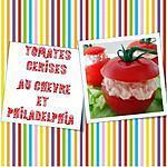 recette Tomates cerises farcies au Chèvre et Philadelphia