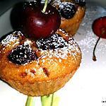 recette Muffins chocolat - cerises
