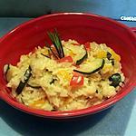 recette Risotto aux courgettes et poivrons