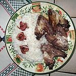 recette Ailerons de poulet au Porto et roses de lard fumé