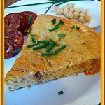 recette Omelette au chorizo et pois chiches