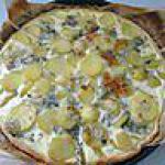 recette tarte aux pommes de terre et roquefort