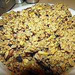 recette Riz complet aux amandes et champignons