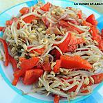 recette Salade de soja, poivron et jambon de pays