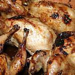 recette Cailles rôties au sirop d'érable et au gingembre