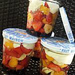 recette Salade pique-nique au 3 fruits gourmande en bocaux