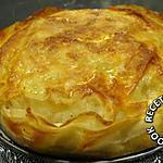 recette Pastilla poulet crevettes et salade de chou vert