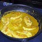 recette Aiguillettes de dinde au curry