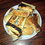 recette Feuilles de brick à la courgette et au thon