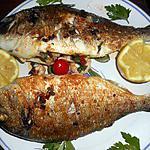 recette Daurade royale farcie aux crevettes et grillée