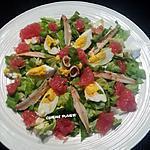recette Salade au pamplemousse, ...  (et petite idée de cocktail du jus de pamplemousse)