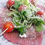 recette Salade de carpaccio de boeuf